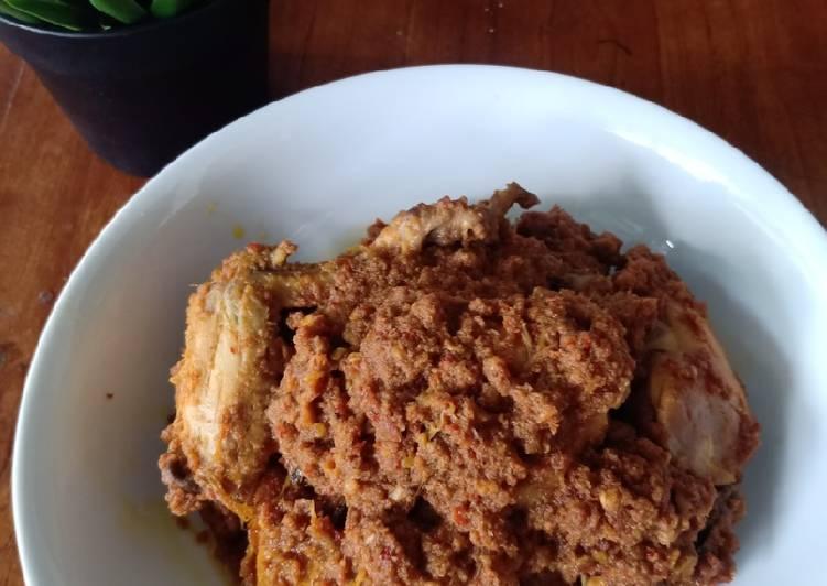 resep cara mengolah Rendang Ayam