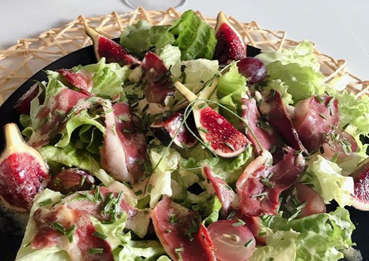 Salade magret de canard et ses délicieuses figues #saladedesaison