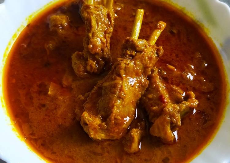 Mutton curry Traditional Bihari Style Finding Healthy Fast Food