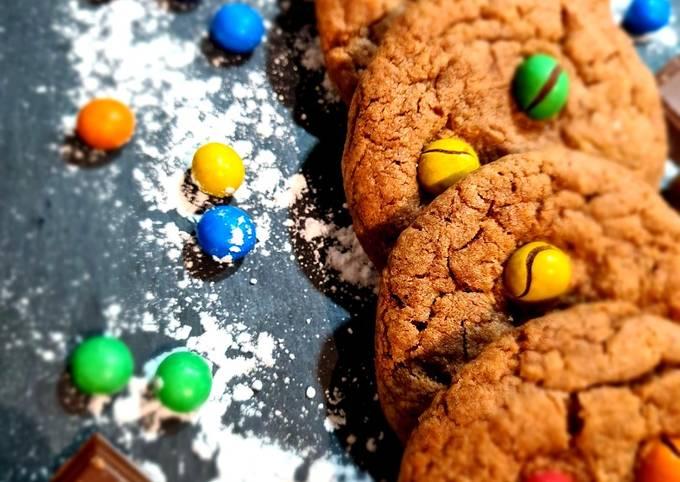 Cookies auxm&m's crispy