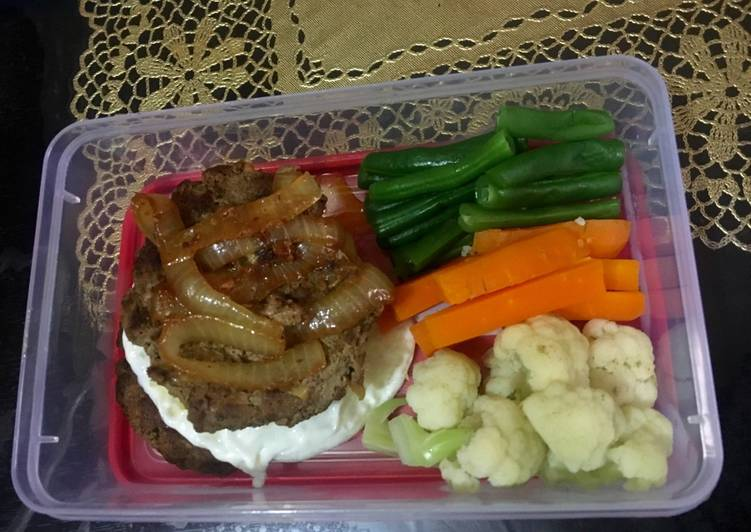 Beef Burger Curry #ketopad_cp_bento