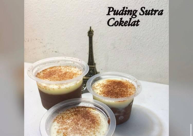 resep cara bikin Pudding Silky Chocolate