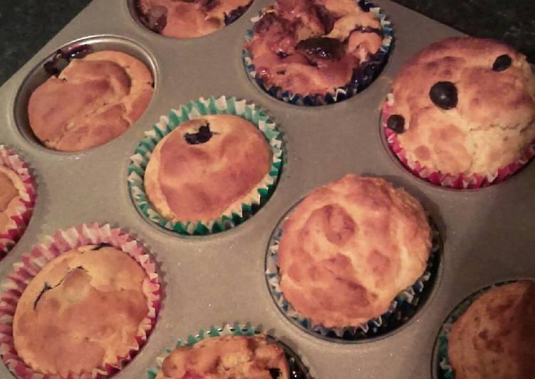 Blueberry, chocolate & banana muffins!