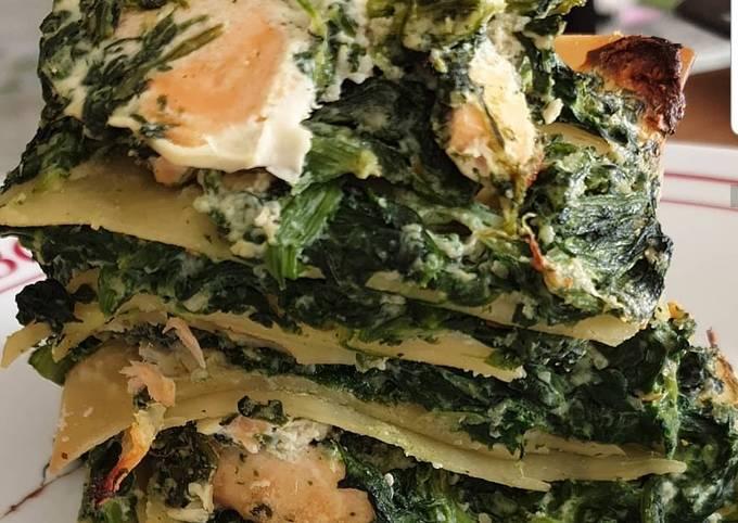 Lasagnes sans gluten saumon, épinard, ricotta