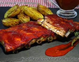 Costillas de cerdo a la barbacoa -Costillas de cerdo BBQ