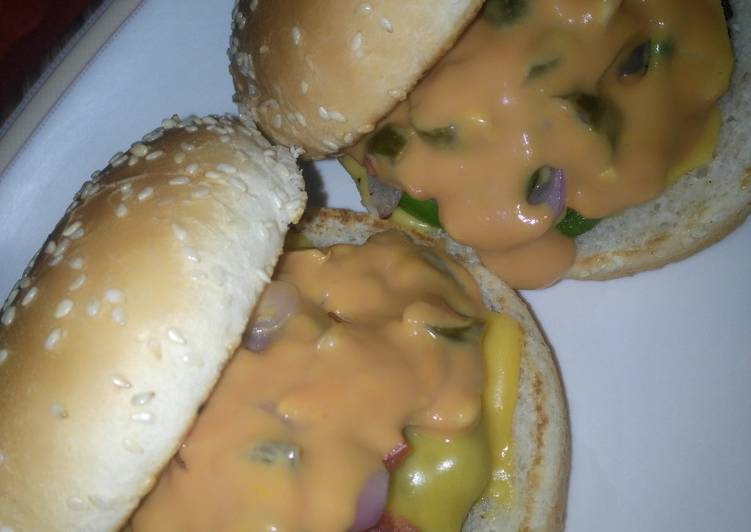 Mutton patty burger