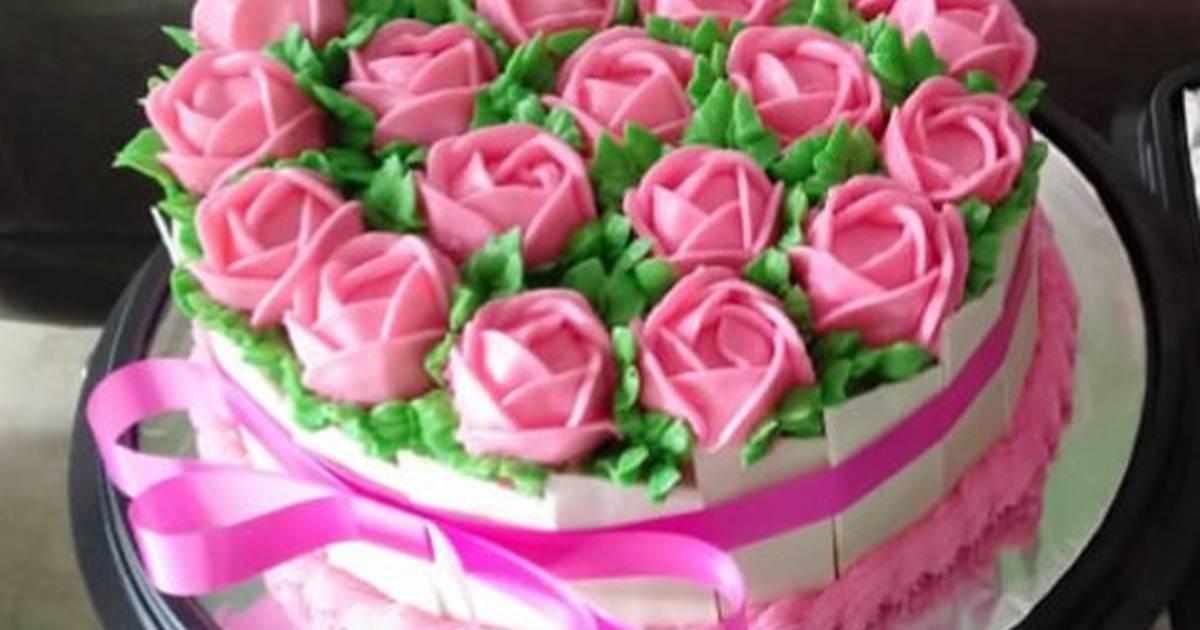 5 294 Resep Cara Menghias Kue Ulang Tahun Sederhana Enak Dan Sederhana Ala Rumahan Cookpad