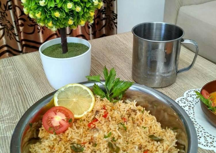 Beef biryani rice