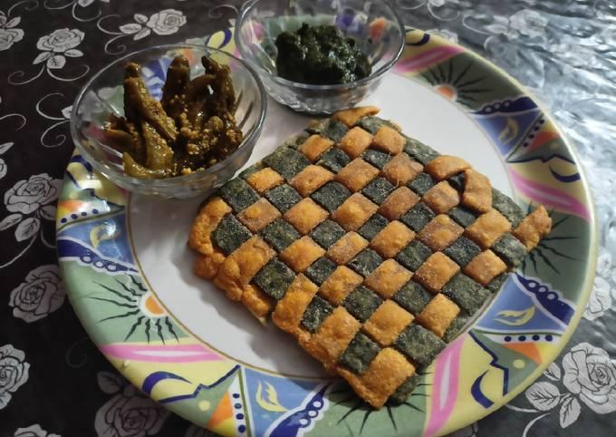Tricolor Weave snack