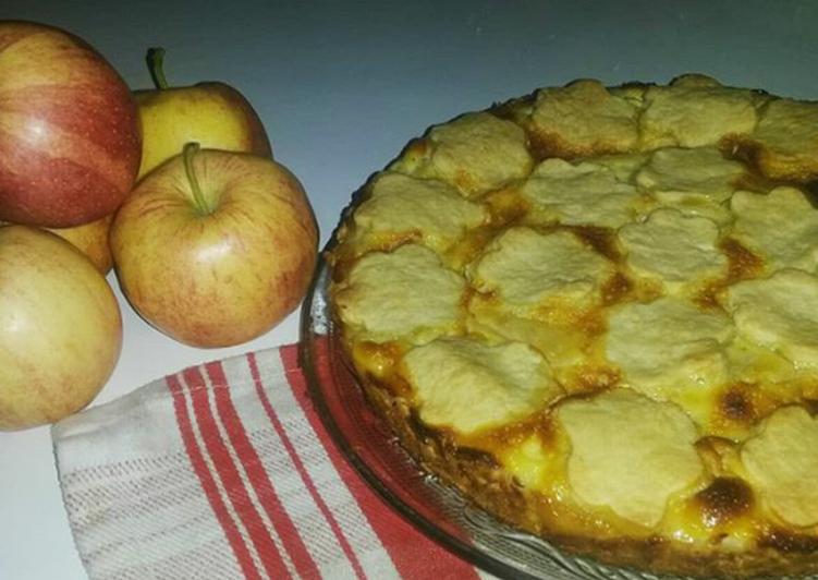 Tarte pommes et crème fraîche