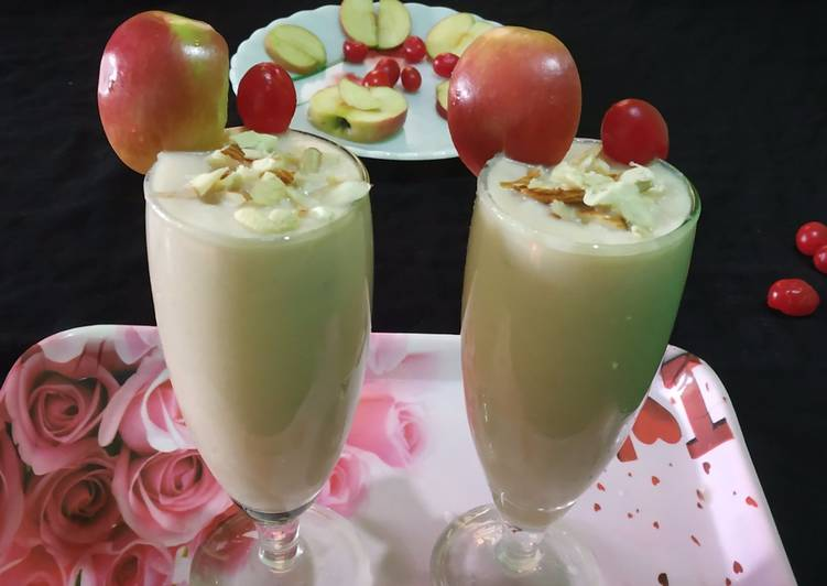 Apple🍎cherry🍒milk shake 🍹🍹🍸🍸🍷🍷