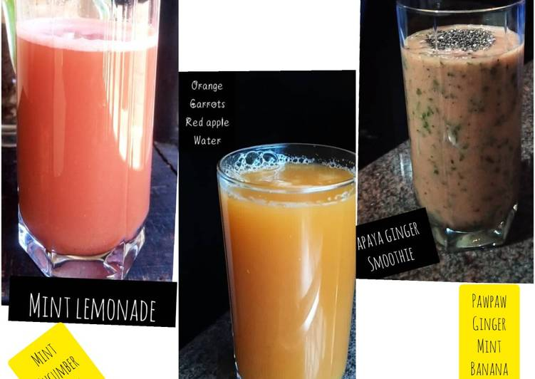 Homemade juice party 3 recipes post🤗🤗