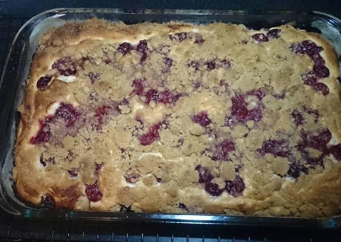 Sour Cherry Cheese Crumb Cake