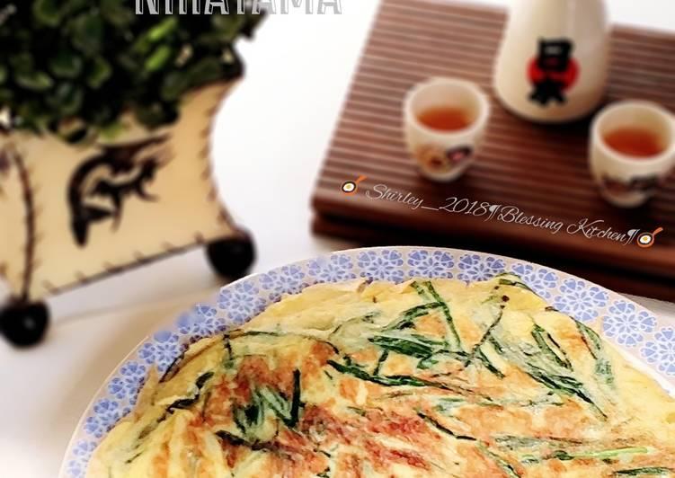 Niratama/ Dadar telur kucai ala Japanese cuisine