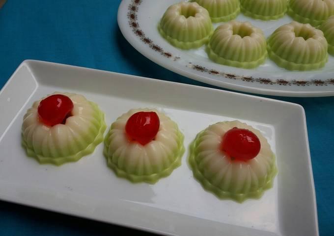Puding Putu Ayu (rasa melon)