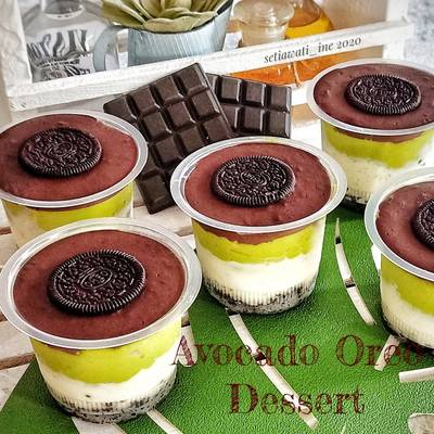 resep dessert avocado oreo Avocado Oreo Dessert
