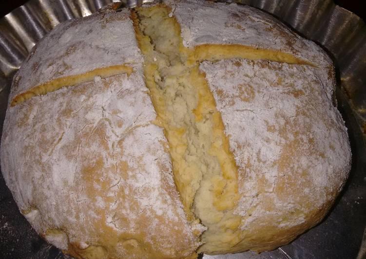 ingredientes de pan casero sin levadura