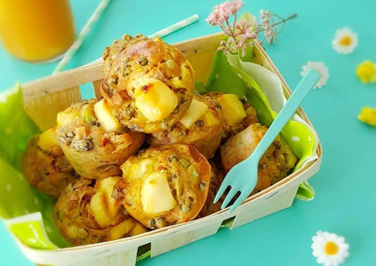 Muffins légumes, volaille et vache qui rit®