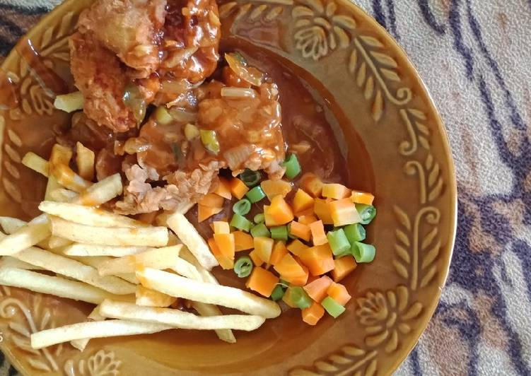 Crispy chicken steak