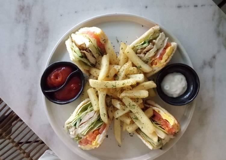Resep Club Sandwich Bikin Laper