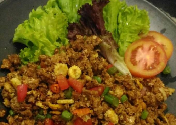Oat ala nasi goreng chinese