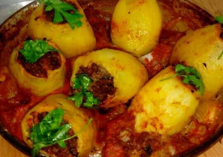 طريقة عمل البطاطس المحشية لحمة  فاطمة ابو حاتي3