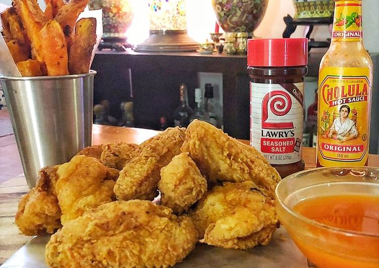 Recipe of Speedy Fried Chicken Wings with Spicy Honey Butter