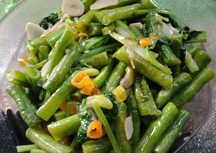 Tumisan sederhana ala kampung - healthy food (vegetarian)