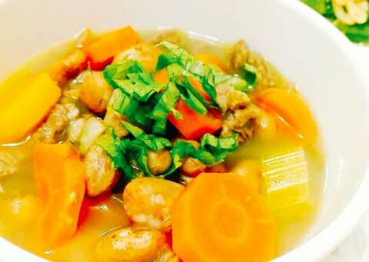 Simple Sup Daging Kacang Merah