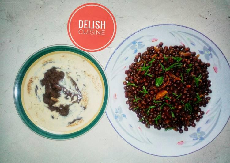 Pigeon pea porridge (Fio Fio) & Tamarind pap (Tamba)