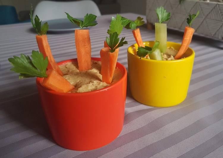 Mini-potager au houmous