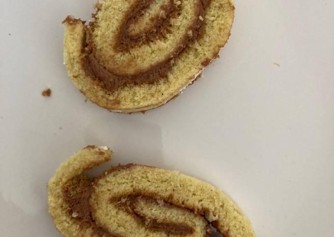 Gâteau roulé fourrage praliné