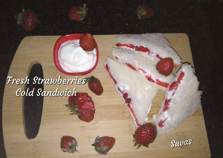 Step-by-Step Guide to Prepare Speedy Fresh Strawberries Cold Sandwich