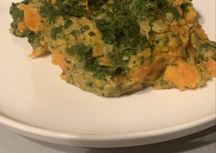 Curry de lentilles corail et patates douces au Cookeo