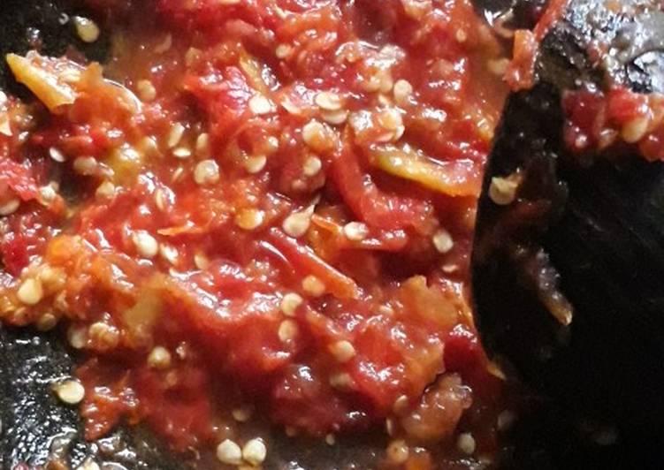 Resep Sambal tomat pedas Yang Gampang Lezat