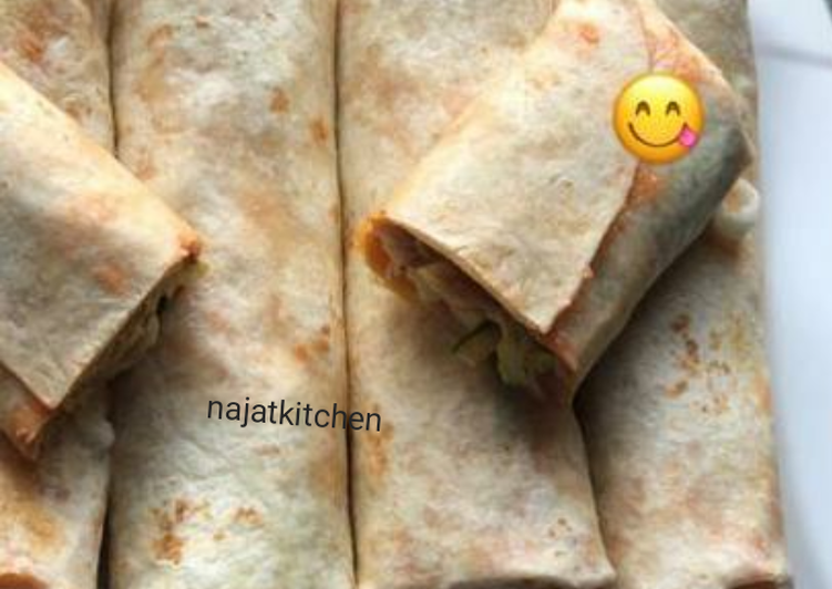 Mince And cheese tortilla wrap