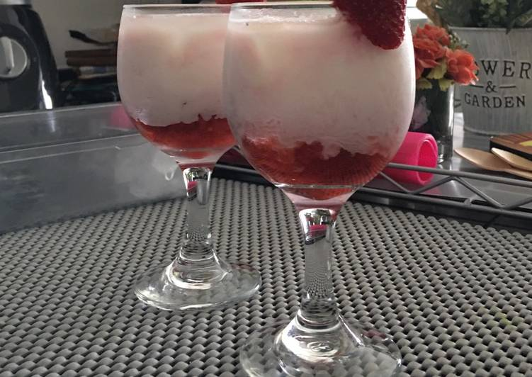 Korean strawberry milk