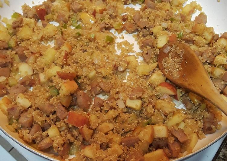 Information on How to Elevate Your Mood with Food Apple Sausage Quinoa