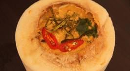 Hình ảnh món Cà ri hải sản nấu trong trái dừa kiểu Thái