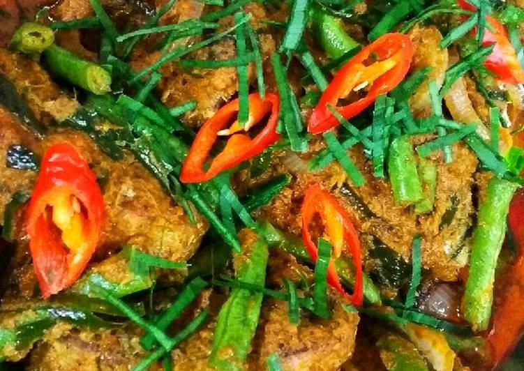 Rendang Pedas Ikn Tongkol bersama Kcg Panjang#Maraton Raya#Ikan