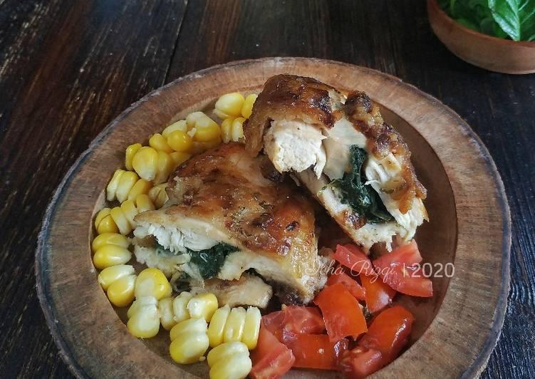 Ayam Panggang Bayam Mayo - cookandrecipe.com