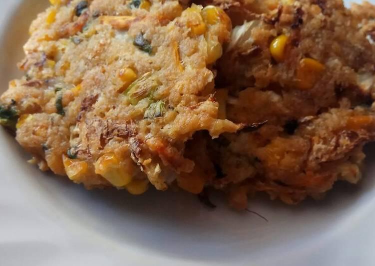 Bakwan jagung oatmeal (cemilan sehat)