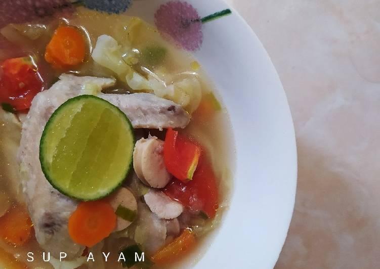 Resep Sup Ayam Sehat Tanpa Minyak Yang Sempurna Resep Masakanku