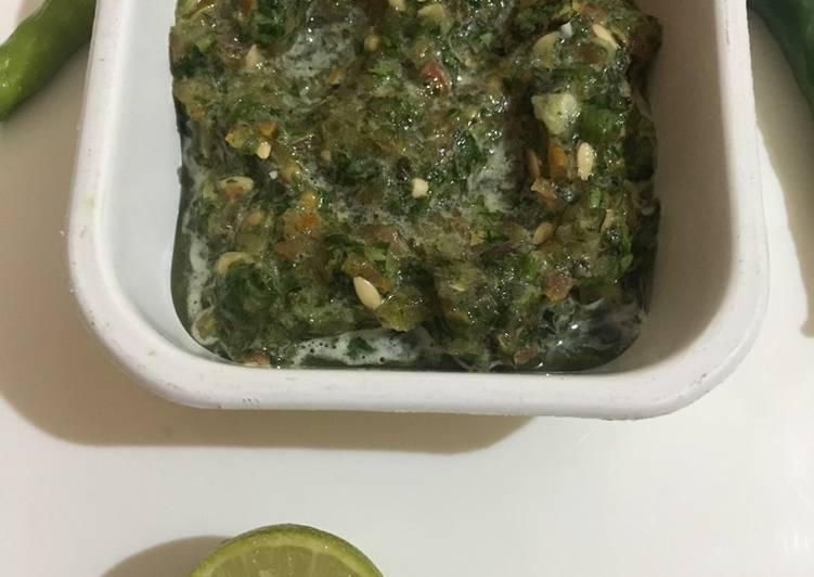 Simple Way to Prepare Favorite Green chilli techa