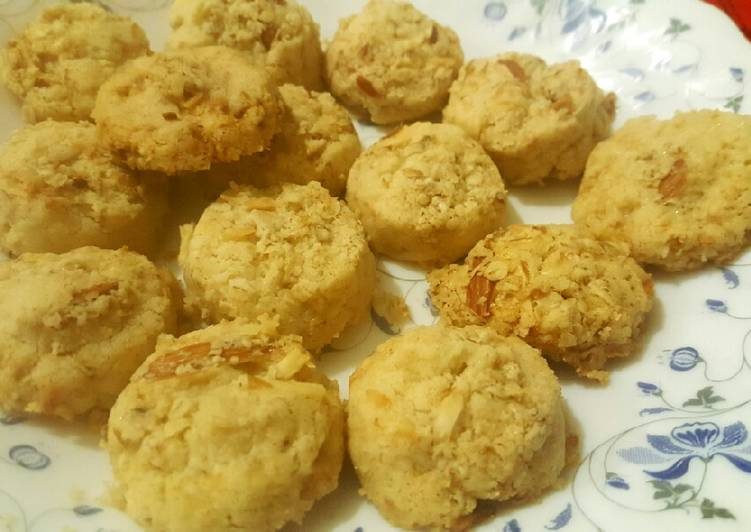 Recipe of Speedy Sugar-free butter cookies with coconut and oats😊
