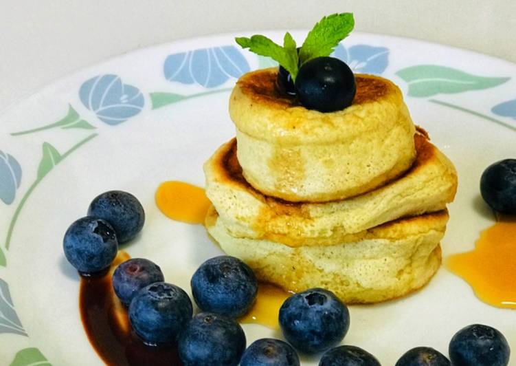 Recipe of Favorite Fluffy Japanese Pancakes (whole Wheat)