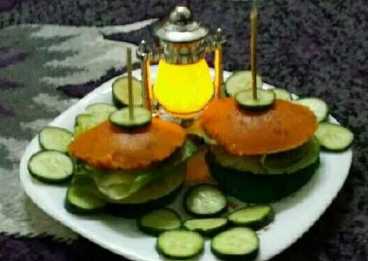 Recipe of Favorite Tricolour Idli Burgers