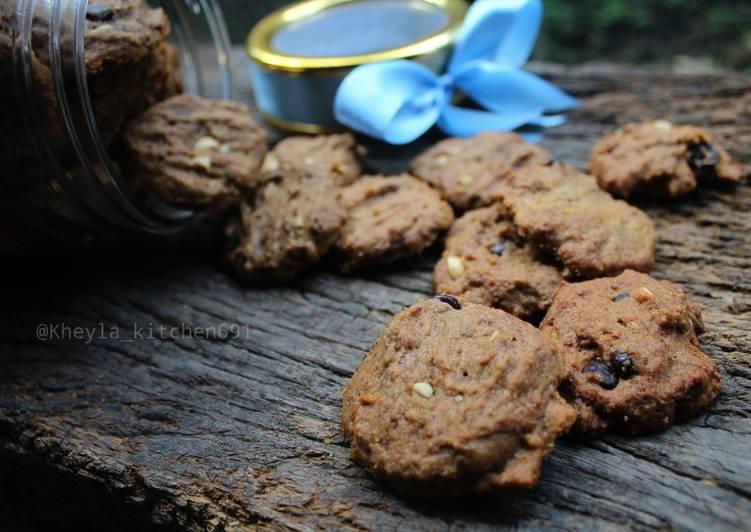 "Choco chip Cookies with Palm Sugar ala good time""an 😂"