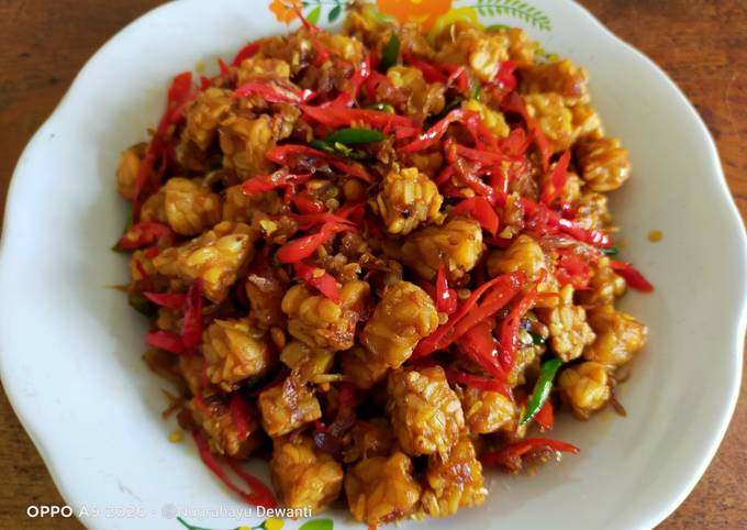 tempe goreng bawang sambal embe - resepenakbgt.com