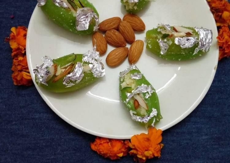 Steps to Make Speedy Parwal ki mithai